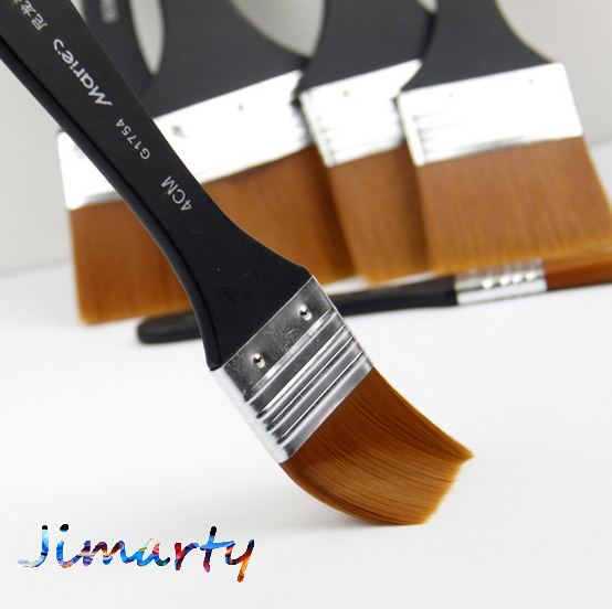 6styles Maries Watercolor oil Art Paint Brush Nylon Hair painting art brush Easy To Clean wooden cleaning brush AHB020(China)