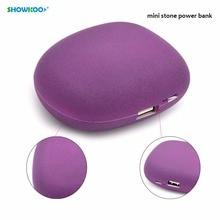 SHOWKOO Mini Stone 5200mAh USB Power Bank Bateria Portable Charger External Battery Pack For Phones Tablet PC 3000mAH 4400mah