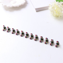 12PCS/Lot Small Cute Crystal Flowers