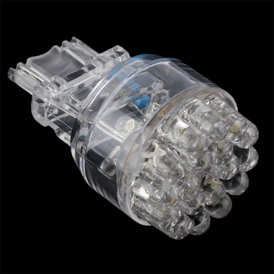 Белый длинная жизнь низкой мощности супер яркий Т25 3157 24 светодиодный 2400lm 12V автомобиля хвост Тормозная стоп сигнал поворота свет лампы Клин лампы