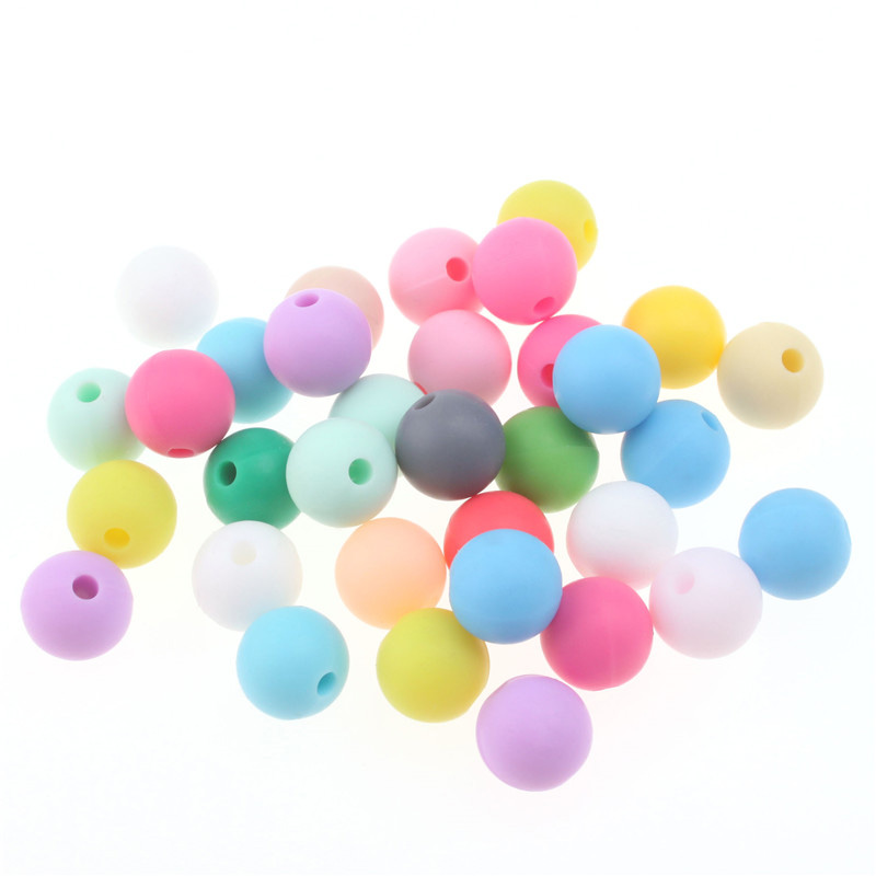 20pcs Food grade silicone beads Spacer beads Diy baby molar Teethers necklace