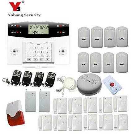 YobangSecurity LCD Screen GSM SMS Wireless Alarm Security Home System Support English Russian Spanish French Italian Czech yobangsecurity wireless gsm sms senior telecare home security alarm system with sos call for elderly care mobile phone control