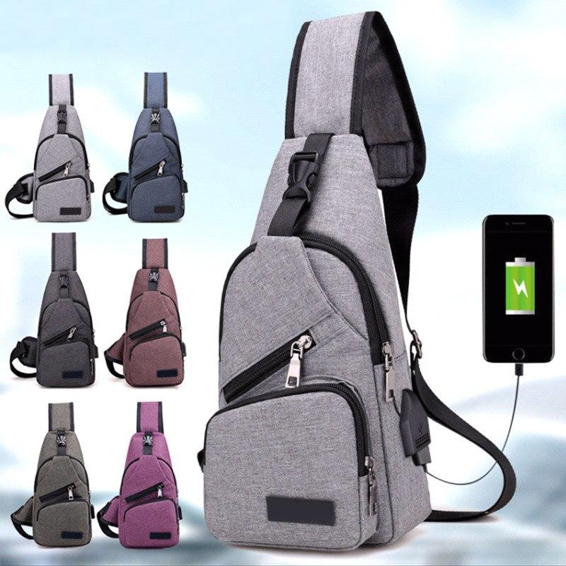 High Quality Men Usb Charge Anti Theft Security Waterproof Travel Shoulder Bag Man Crossbody Messenger Casual Bag Best Sale