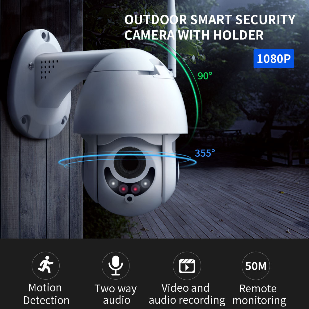 1080P CCTV Security IP Camera Wifi 5XZOOM Night Vision Motion Safety Detection