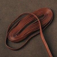 Synthetic Coffee Leather Ito Sageo for Japanese Katana Wakizashi Tanto Samurai Sword Knives Warping Cord Fitting PS5