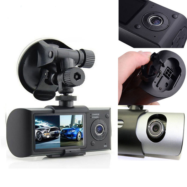GPS G-Sensor Cam Corder 140 Degree Wide Angle Video Recorder Display with 2018 Auto 2.7 Inch Dual Lens Dash Cam Car DVR Camera
