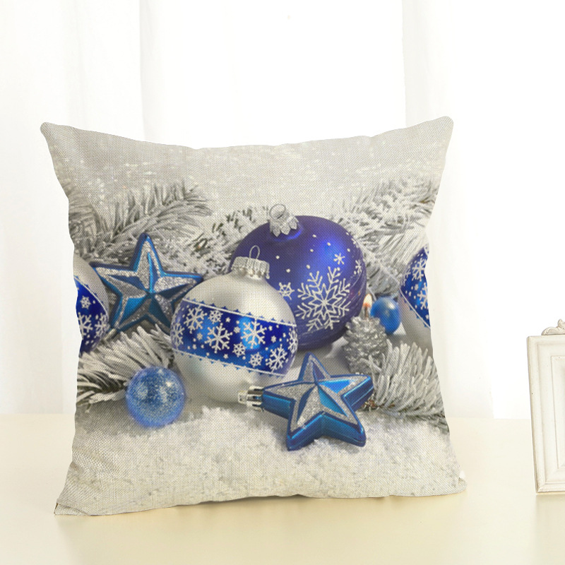 New Year <font><b>Christmas</b></font> Decorations For Home 2020 <font><b>Christmas</b></font> Ornaments Navidad Frozen Party Decorative Customizable Cushion Cover image