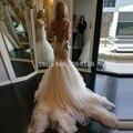Sexy Backless Mermaid Wedding Dresses 2017 Sleeveless Tulle robe de mariage vestido de noiva sereia
