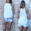 Hot Fashion Women T Verão Casual Mangas Vest Regatas Camis Tanques Soltas