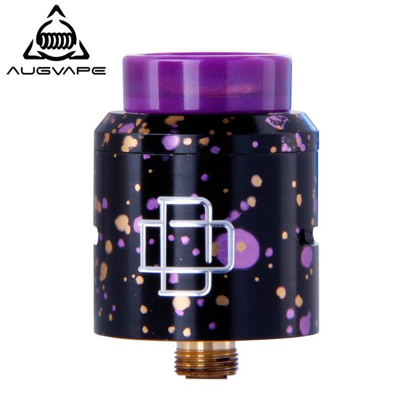 Augvape Druga RDA Atomizer Tank Candy Color 24mm Electronic Cigarette DIY Coil Big Airflow Dual Post Gold Plated Deck RDA Tank недорго, оригинальная цена