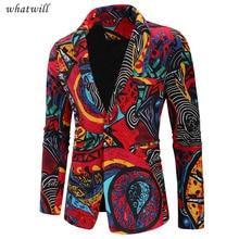 Vestidos africanos traje chaqueta hombres dashiki blazers 3d impreso ropa  Africana casual África ropa hip hop bata africana 72a4350bff3