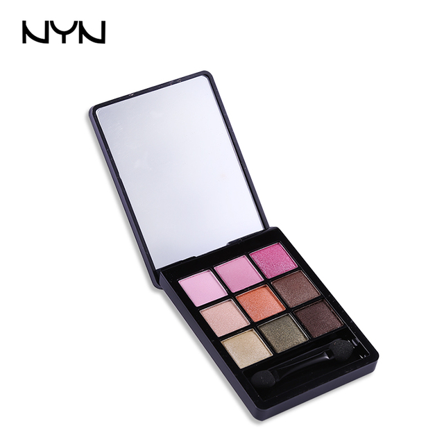 beand nyn 9 colori hobby tavolozza dei colori ombretto glitter mineral maquillage lunga durata stereo paleta - Colori Maquillage
