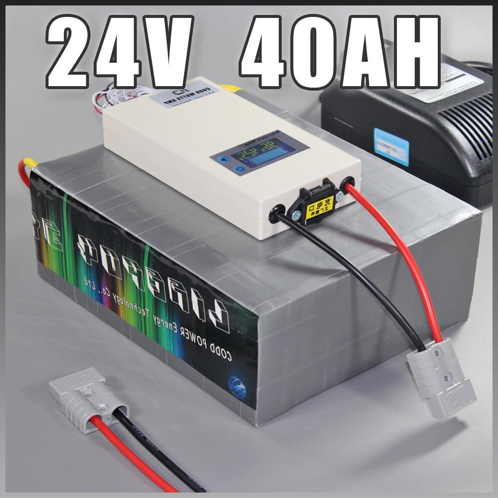 24V 40Ah LiFePO4 Акумуляторна батарея, 1000Вт - Велоспорт