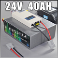 24V 40Ah LiFePO4 Battery Pack ,1000W Electric Bicycle Battery + BMS Charger 24v lithium scooter electric bike battery pack