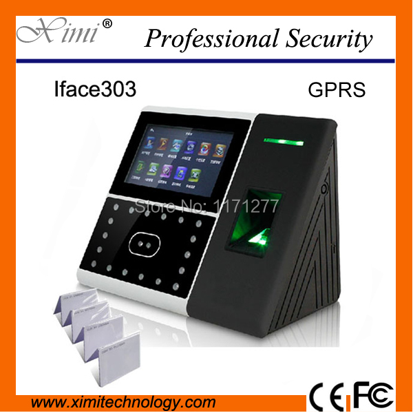 High-tech office with facial fingerprint and mi-fare access control time attendance system TCP/IP GPRS and Camera free shipping