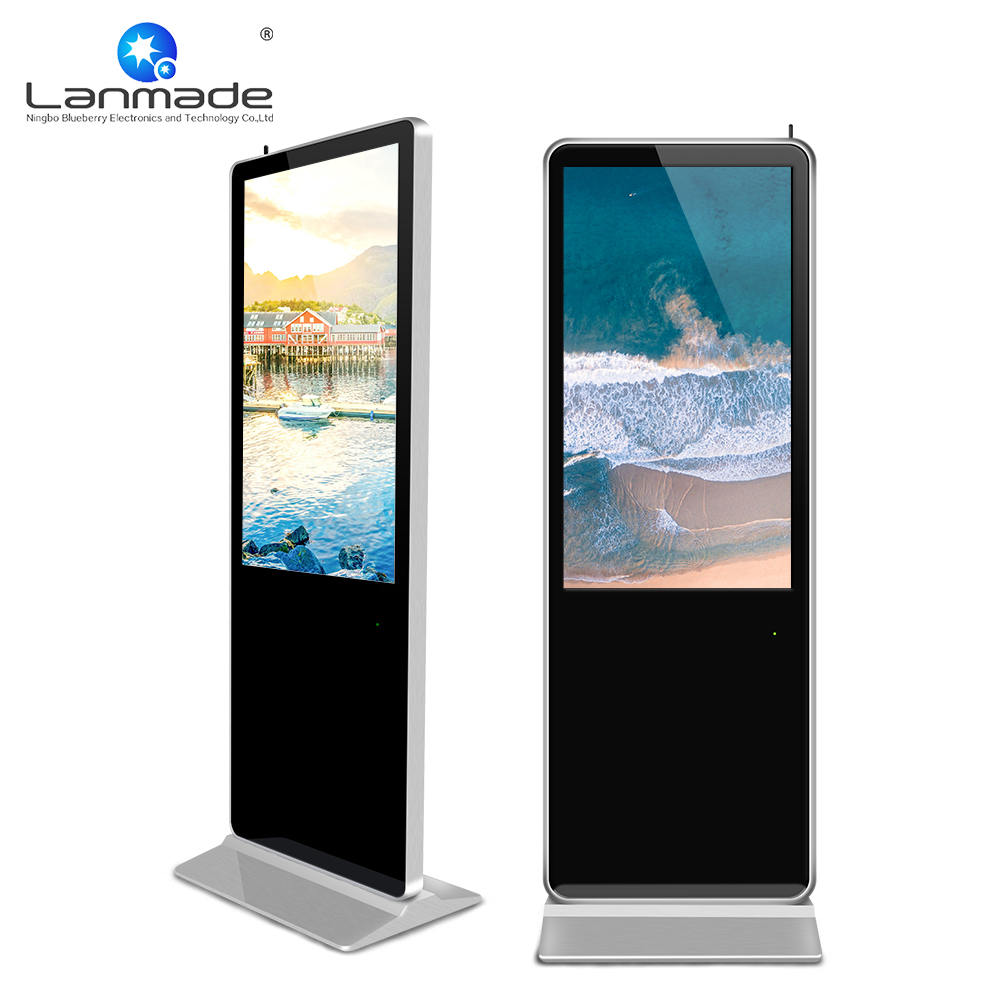 43inch real 1080P flooring lcd totems network publishing management display kiosk stand network screen