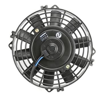 تكييف الهواء لوول/الفئران/حار قضيب الكلاسيكية العضلات سيارة مكثف التبريد مروحة كهربائية العالمي 8 '24 فولت الأسود