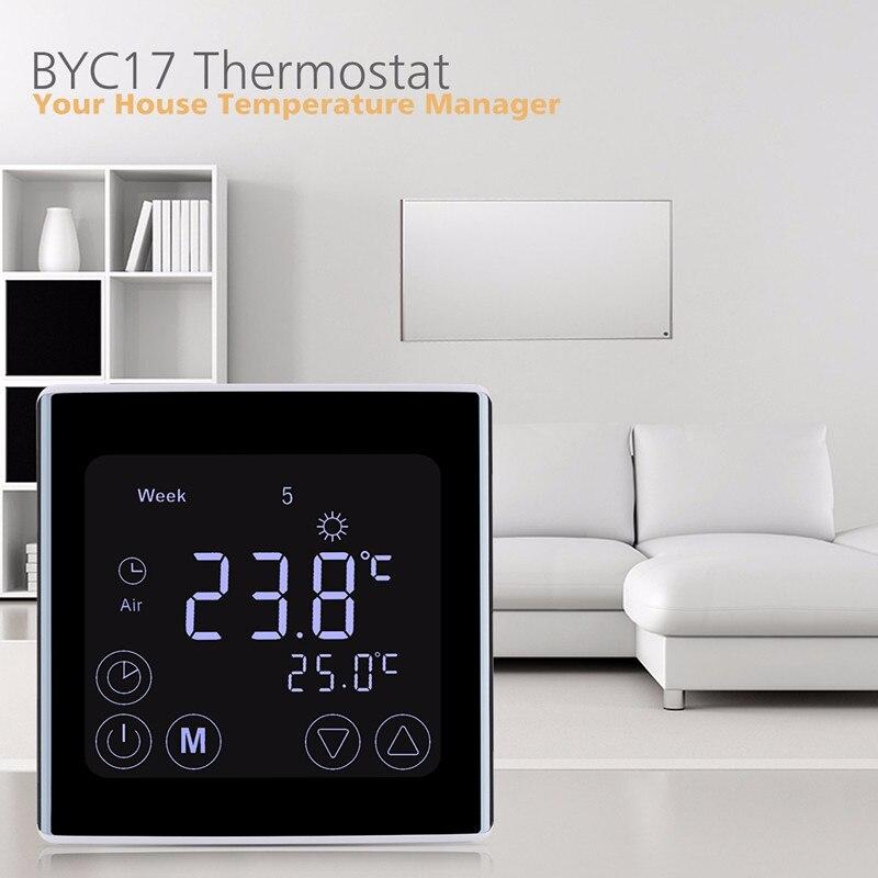 Smart LCD Display Heizung Thermostat TouchScreen Zimmer Temperatur Controller Programmierbare Fußbodenheizung Hause Temperatur Instrument