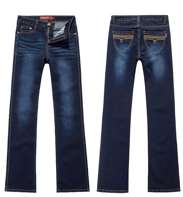 Pantalon De Femelle Haute Sauvage Brodé Grande Coréenne Version 3166 Skinny Taille Printemps Jeans xPwqS66