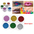 Nail Glitter Powder Gold Sliver Shinning Mirror Eye Shadow Pretty Gradient Shimmer Dust Nail Art DIY Chrome Pigment 2g/Box