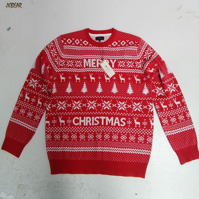 New arriving Men's Ugly Christmas Sweaters Merry Christmas Letter ...