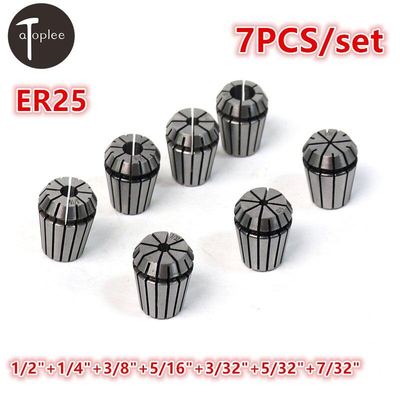 7PCS/set ER25 3/32''-1/2