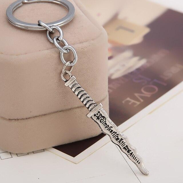 once upon a time keychain Snow White EMMA SWAN TALISMAN Rumpelstiltskin  dagger pendant key chains 98b5da951c6d