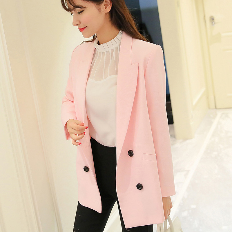 Popular Pink Blazer Womens-Buy Cheap Pink Blazer Womens lots from ...