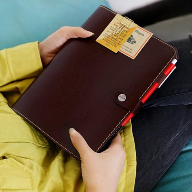 Waterproof Leather Personal Organizer Diary Planner Weekly Schedule Notebook Coil Spiral Binder Travel Agenda Journal Notepad cartoon cat cute notebook leather notebook personal diary agenda organizer binder daily weekly planner travel notebook school