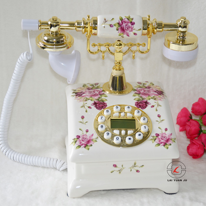 Аутентичные керамические старинной Европейской Сад Мода ретро ювелирные украшения бытовая фиксированной стационарный телефон
