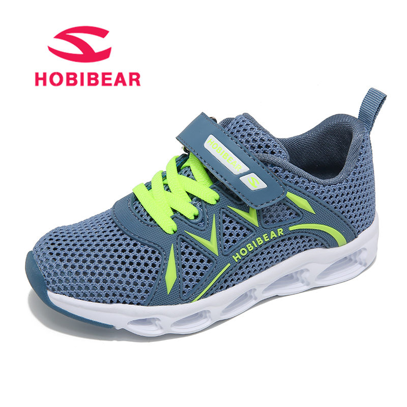 HOBIBEAR Spring Kids Shoes Boys Children Sneakers Sport Girls Shoes Breathable Mesh Anti-Slippery Running Casual kinder schuhe