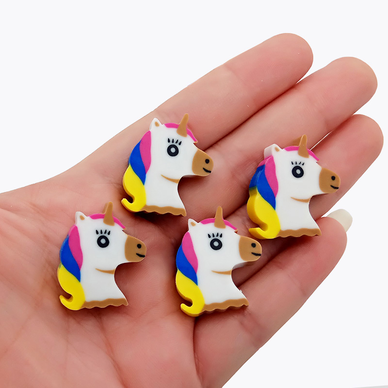 4 Pcs/lot Office Stationery Kawaii Mini Animal  Modify Eraser Lovely Cartoon Creative Unicorn Pencil Eraser For Kids Toys Gift