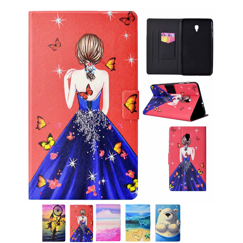 New  PU Leather Tablet Cover Stand Tablets Case For Samsung Galaxy Tab A 8.0 T380 T385 SM-T385 2017 With Card Slot