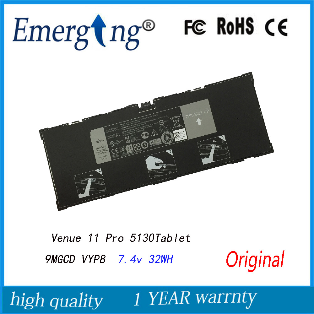 7.4V 32WH New Original Laptop Battery for Dell Venue 11 Pro (5130) Tablet XMFY3 312-1453 VYP88 9MGCD wzsm original new dc power jack usb board flex cable for dell venue 11 pro 5130 tablet usb charger board mld db usb tested well