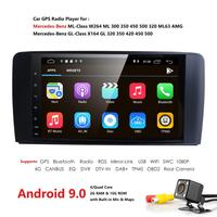 2+16 Android 9.0 CAR AutoAudio player gps FOR BENZ ML 320/ML 350/W164(2005 2012) Multimedia navigation head device unit receiver