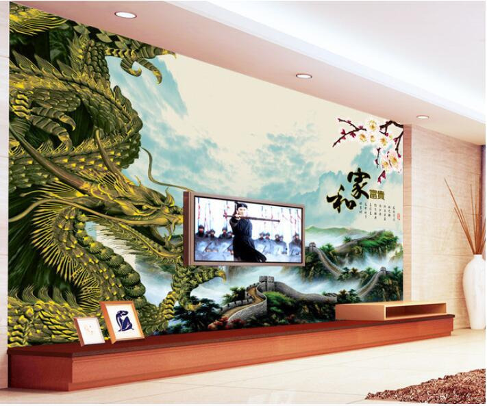 3d wallpaper custom mural non-woven 3d room wallpaper TV setting wall dragon landscape painting photo 3d wall mural wallpaper 3d wallpaper custom mural non woven wall sticker black and white wood road snow tv setting wall painting photo wallpaper for 3d