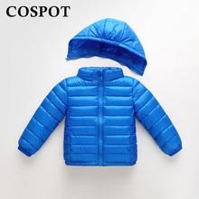 Baby Girls Boys Winter Down Jacket Girl Light White Duck Warm Fashion Down Coat Girl's Hooded Down Parkas Plain Color 25C