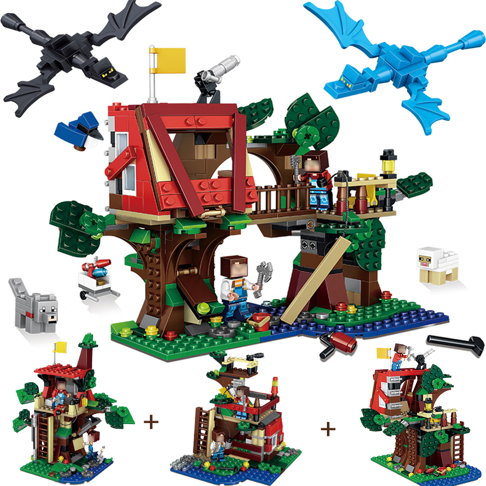 Qunlong 3 in 1 My World Building Blocks Brick Figures Minecrafted Zombies Compatible Legoe Weapon DIY Toys For Children Friends decool 3117 city creator 3 in 1 vacation getaways model building blocks enlighten diy figure toys for children compatible legoe