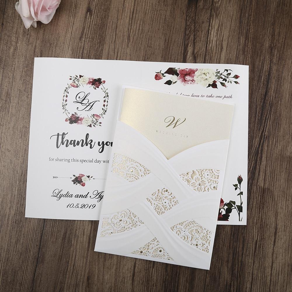 100st hete mode laser gesneden witte holle flora bruiloft - Feestversiering en feestartikelen - Foto 6