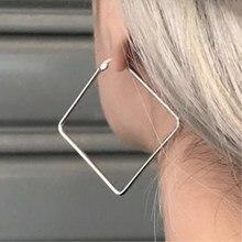 EK163 панк гипербола большой квадратный круг звезда сердце серьги-кольца для женщин модные ювелирные изделия бохо простые Серьги Pendientes