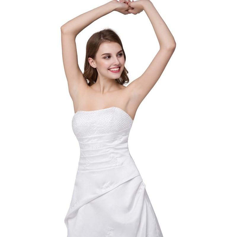 Ruthshen Pas Perlée Balayage Stock 2018 Sans Robes Bretelles De Train Plis Mariée En Noiva Mariage Cher n0P8NkOXZw