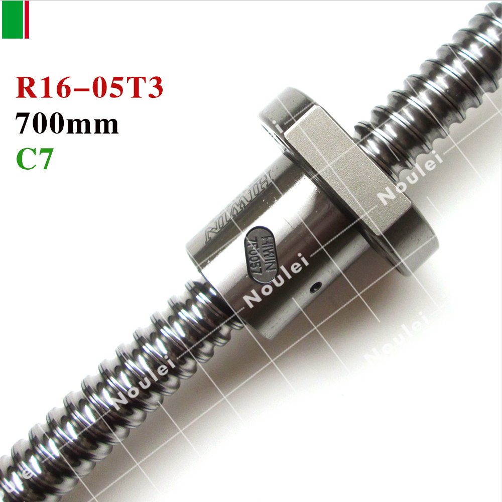 HIWIN FSI 1605 C7 700mm ball screw 5mm lead with R16-5T3-FSI ballnut and end machined for high stability linear CNC diy kit set tbi 3205 c7 1500mm ball screw 5mm lead with sfv3205 ballnut of sfv set end machined for high precision cnc diy kit