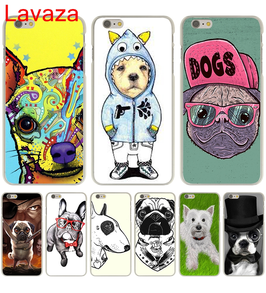 Lavaza Tattooed Bullterrier Cute dog Biaoqing Hard Transparent Case Cover for iPhone 6 6S