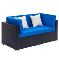 2 Seats Patio Furniture Sofa Set Wicker Chair For Outdoor Yard Swimming Pool Beach Garden Furniture Outdoor Rattan Sofa Set