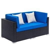 2 Seats Patio Furniture Sofa Set Wicker Chair For Outdoor Yard Swimming Pool Beach Garden Furniture Outdoor Rattan Sofa Set