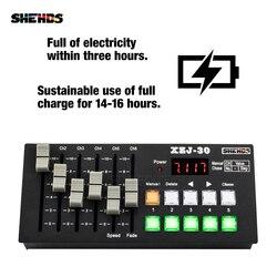 Equipamento de controle de palco de carregamento sem fio dmx consoe30 para led par liso/cabeça em movimento/iluminação local dj discoteca controlador
