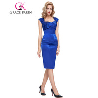New Arrival Royal Blue Black Cocktail Dresses Satin Sexy Bodycon Short Party Dress Slim Robe De