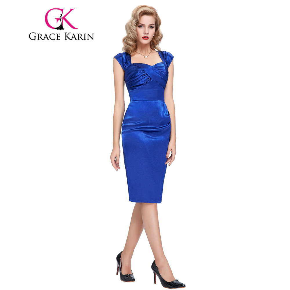 New Arrival Royal Blue Black   Cocktail     Dresses   Satin Sexy Bodycon Short Party   Dress   Slim robe de   cocktail   Special Occasion BP0072
