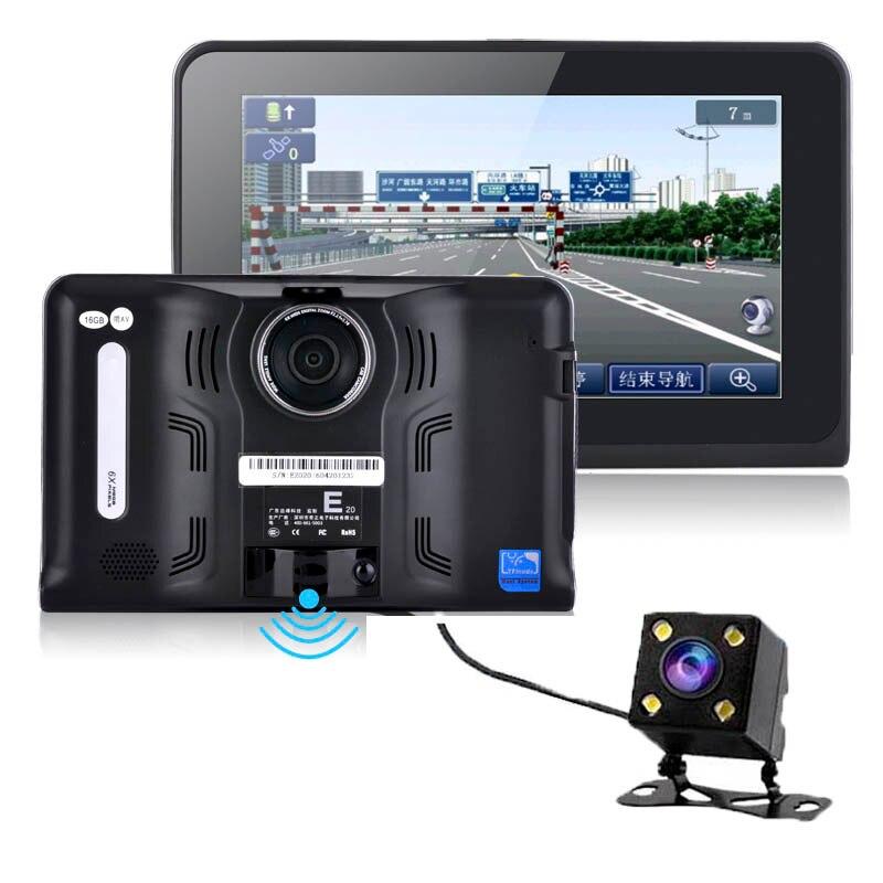 7inch font b Android b font Vehicle GPS Navigation Rear view cameraTruck Car GPS Navigator Tablet