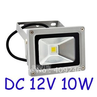 DHL Free shipping DC12V 10W LED FloodLight WhiteWarm White Lighting Waterproof outdoor Floodlight High Power Lighting
